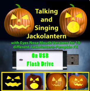 TALKING & SINGING JACK-O-LANTERN